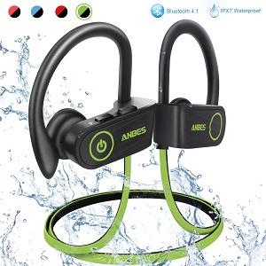 ANBES Bluetooth Headphones Wireless Earbuds, IPX7 Waterproof in-Ear Earphones Sports