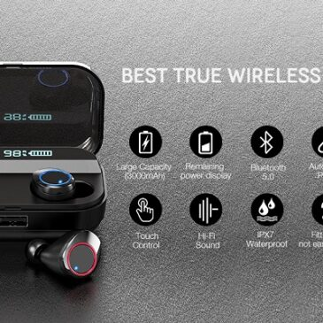 Wireless Earbuds,Kissral Bluetooth 5.0