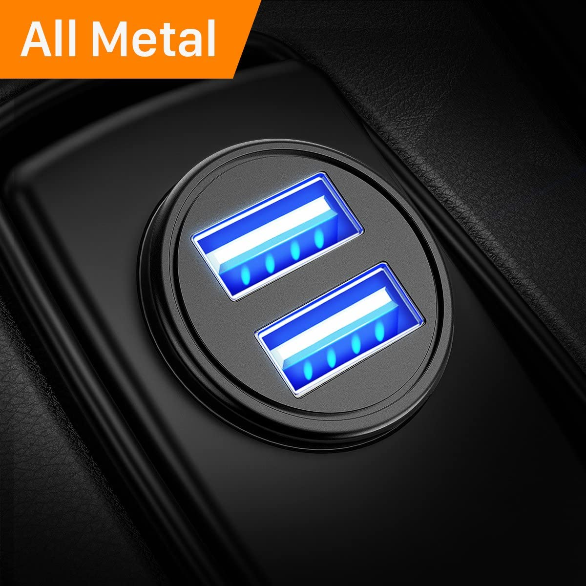 AINOPE Car Charger, 4.8A All Metal Car